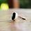 Thumbnail: Ασημένιο  δαχτυλίδι με ημιπολύτιμολίθο-Onyx D51