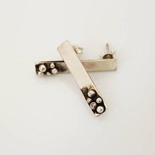 Ασημένια  σκουλαρίκια -μπάρα  EA19