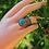 Thumbnail: Ασημένιο statement δαχτυλίδι-Turquoise stone  D10