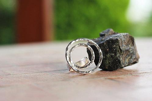 Ασημένιο δαχτυλίδι κύκλοι  D37