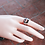Thumbnail: Ασημένιο δαχτυλίδι καρδιά -spinner ring D70