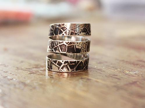 Aσημένιο δαχτυλίδι στυλ stacking rings  D39
