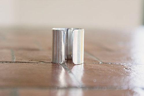 Ανοιχτό minimal ασημένιο δαχτυλίδι D48