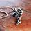 Thumbnail: Μασίφ ασημένιο μενταγιόν με αμέθυστο πέτρα  N17