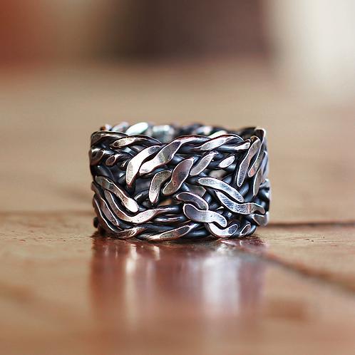 Ασημένιο ανδρικό δαχτυλίδι  AD11