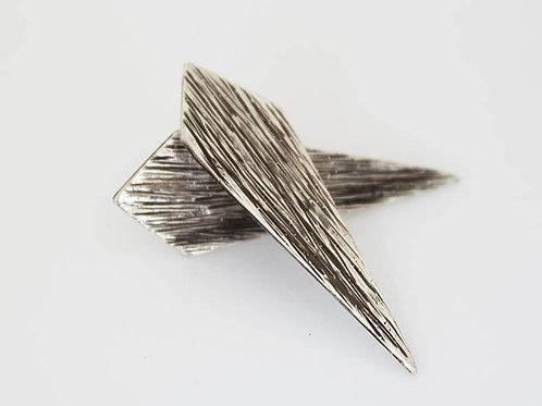 Σφυρήλατα Ασημένια γεωμετρικά σκουλαρίκια  EA18