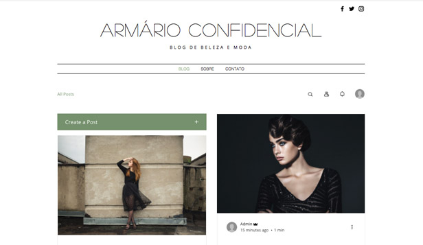 Blogs e Fóruns website templates – Blog de Moda