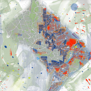 Washington DC Map Painted