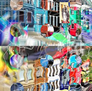 Adams Morgan Collage Washington DC Pop Art