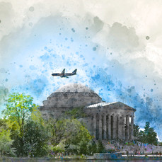 Jefferson Memorial Plane DC 2870-4