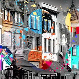Adams Morgan Collage Washington DC Pop art 3