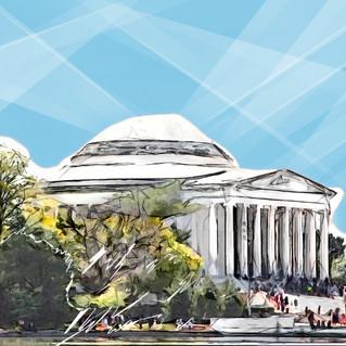 Jefferson memorial Washington DC 2870