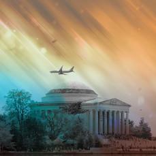 Jefferson Memorial Plane DC 2870-1
