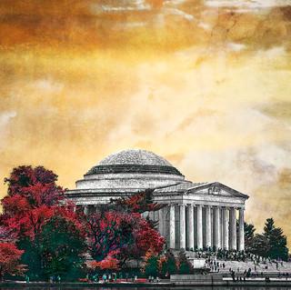 Jefferson memorial Washington DC 2870 Orange