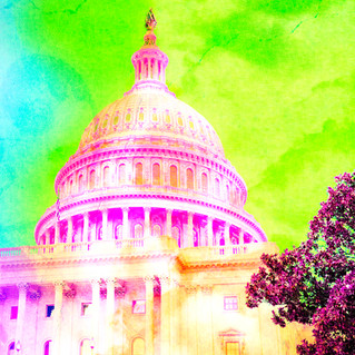 Washington DC Capitol Pop Art 9665