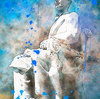 Lincoln Memorial Blue 1820