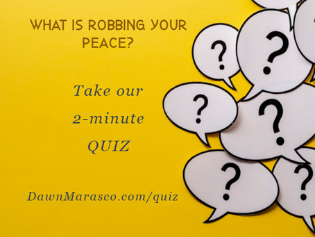 Find out What is Robbing Your Peace