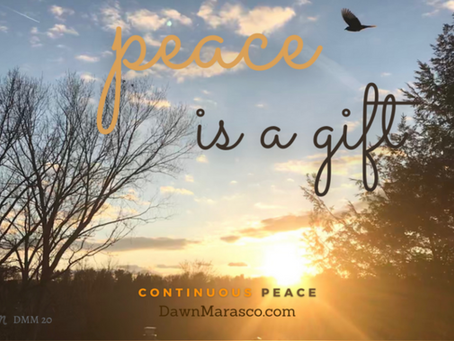 Be Encouraged! Peace is a Gift