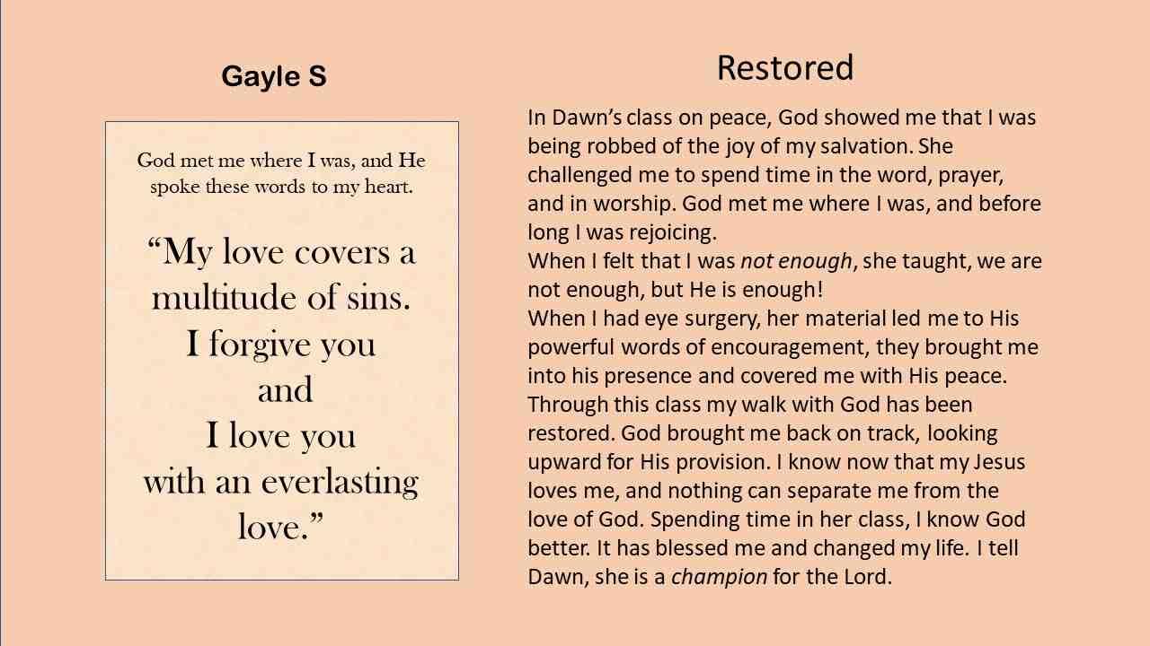 Restored - Gayle S.
