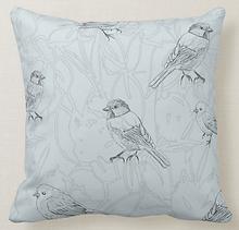 little tweets bird blue pillow.png