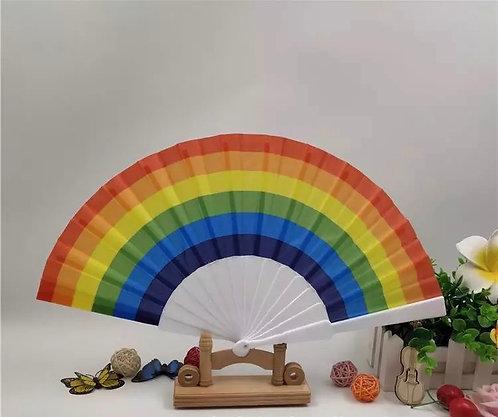 Rainbow Hand Fans