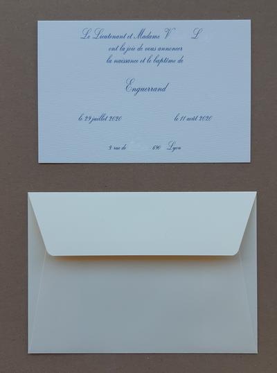 Faire-part Rives Tradition & enveloppe