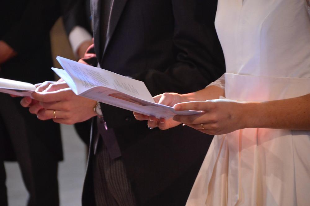 Livrets de cérémonie des mariés
