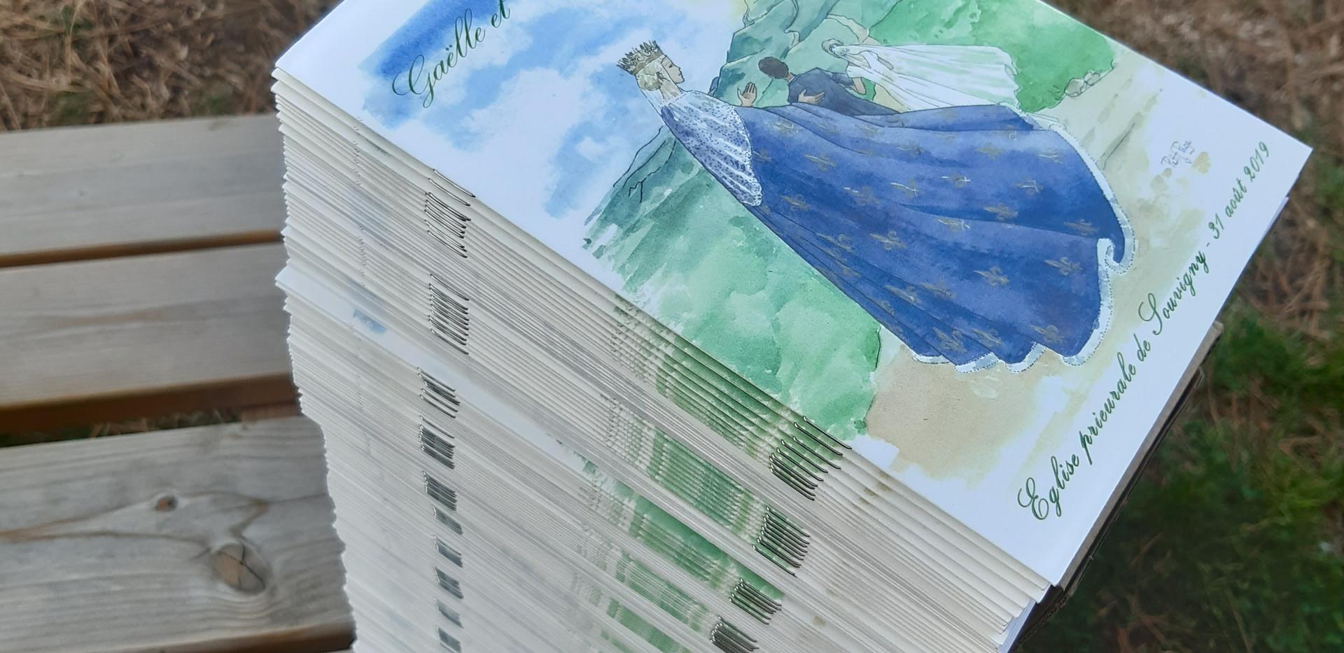 Livrets en papier naturel