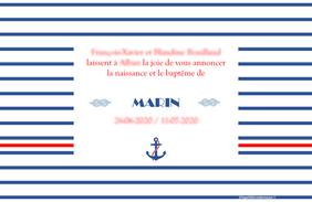 Faire-Part modèle Marin (verso)