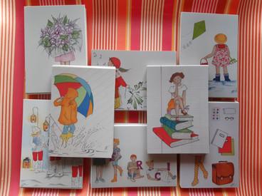 Cartes postales / Cartes de voeux