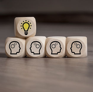 Dices with Teamwork Idea Business_edited