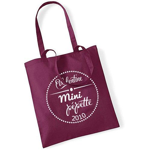 """Tote bag en coton """"mini pépette"""""""
