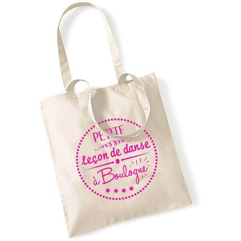 """Tote bag en coton """"leçon de danse"""""""
