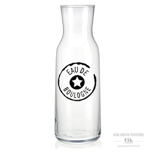 Carafe 1,1L droite en verre eau de ... à personnaliser