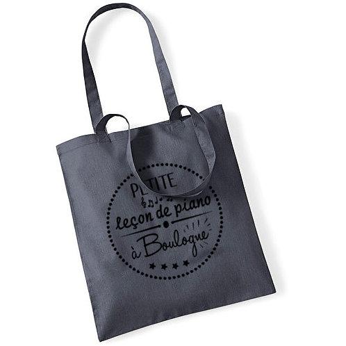 """Tote bag en coton """"leçon de piano"""""""