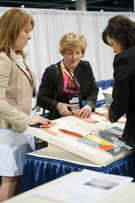Ann K. Johnson in the Construction Zone of IWCE