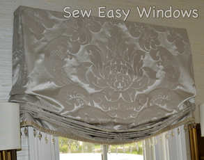 Faux relaxed roman shade