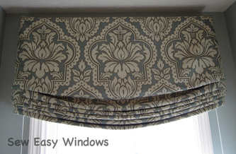 Faux relaxed roman shade valance