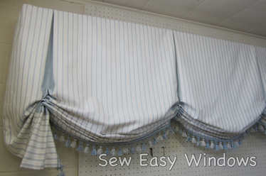 Faux butterfly shade valance