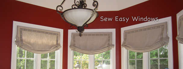 Faux relaxed roman shade valances