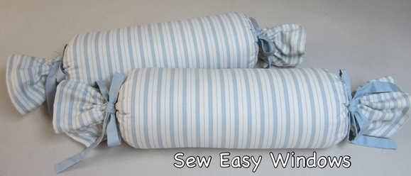 Bolster pillows - tootsie roll style