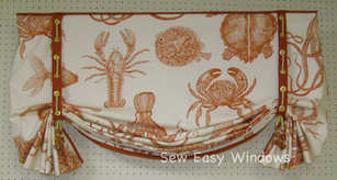 Nautical butterfly valance