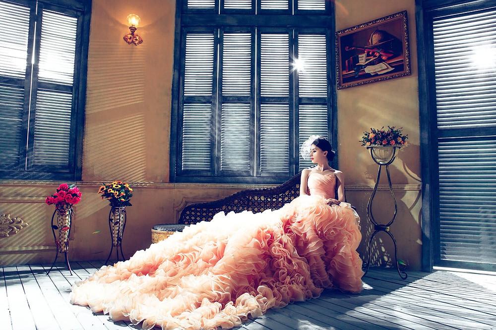Organización de bodas, Novia posando
