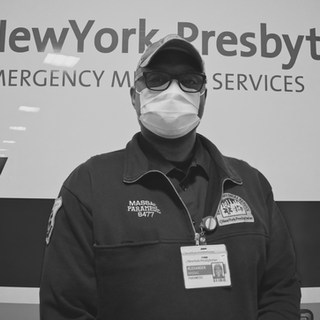 """Proud and happy to do this work, but frankly I'm scared. I am motivated for the people of NY, my family, friends, and my NYP coworkers."""