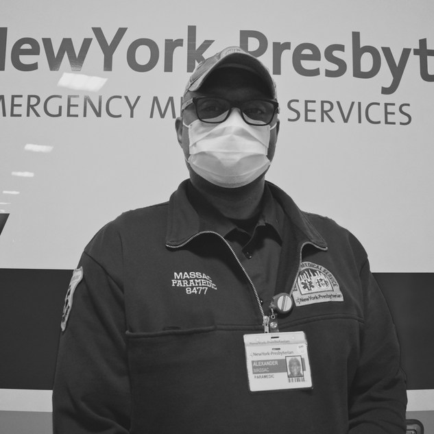 """""""Proud and happy to do this work, but frankly I'm scared. I am motivated for the people of NY, my family, friends, and my NYP coworkers."""""""