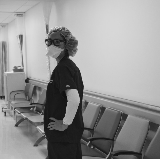 """""""There is something absolutely beautiful about working during a pandemic: a true emergency, an event of great need with epic consequences. It is the greatest honor to have the training and education to serve in this capacity. There is a phenomenal teamwork atmosphere among all emergency department staff and consultants. We're tirelessly researching and collaborating with peers to try to understand a new and dynamic disease in order to save our city. There is a stronger connection to our patients: I see the fear in their eyes, and it's the same fear I see when I look in the mirror.  Many see what we do as extraordinary. But it seems ordinary to me. This is what we do day in and day out. We work at any hour of the day, any day of the year, through any natural disaster or holiday. We work knowing the omnipresent threat of terrorism and personal injury. It's just that these are extraordinary times. And the support I've felt as an emergency physician is something I've never experienced. The thunderous applause at 7p, the sidewalk chalk messages of encouragement, the donations of food and PPE, and so many acts of kindness and love ... it's an overwhelming feeling that brings me to tears every time.  When the pandemic dies down, I will be thrilled to hug my family and friends, dine in a restaurant, take a trip, and do all the things that I took for granted. But I will also look back with great fondness for this storm - even though it will probably bring indescribable pain and loss - because we weathered it together."""""""