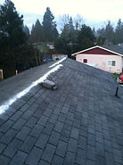 Before and After pic of residential roof cleaning