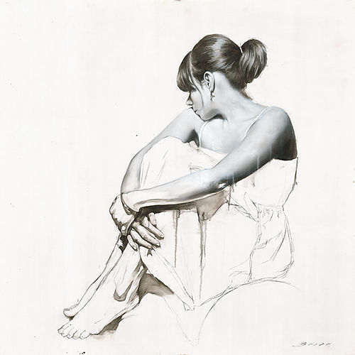 white dress study number two jonathan brier Figurative art realism