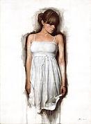 White Dress, Figurative Art, Modern Realism, Abstract Figurative Realism, Oil Painting, Realistic Paintings, Contemporary Painters, Contemporary Art, Figurative Paintings, Brier Art, Fine Art,