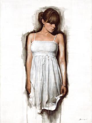 Figurative Art, Figurativism, Artwork, Paintings, Sculptures, Representational Art, Figure Painting,  Human Figure, Modern Art, Figurative Artists, Real objects, 'White Dress'